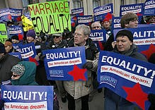 NJ gay rights group halts political party donations, citing gay marriage defeat