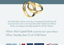 New York marriage equality coalition plans rally at state capitol in Albany