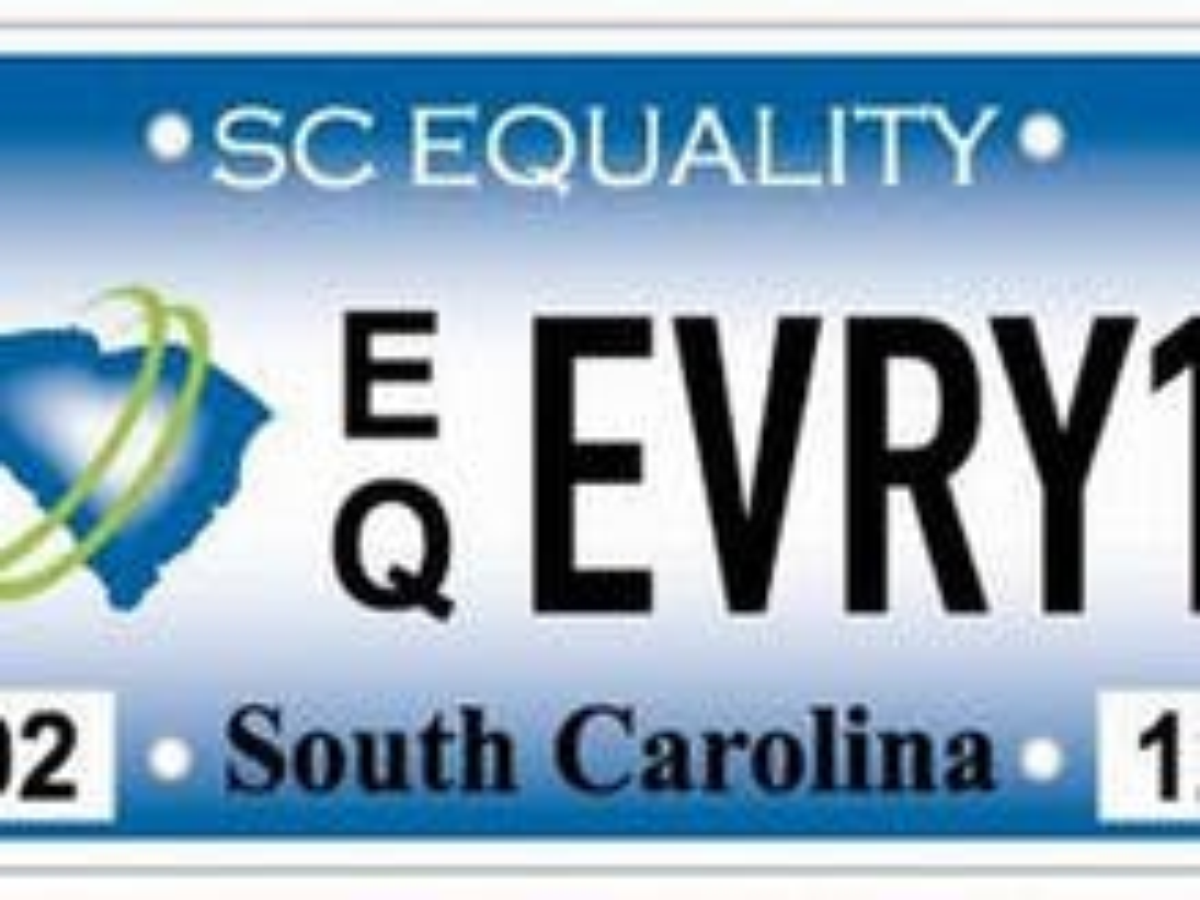 South Carolina announces pro-equality license plates