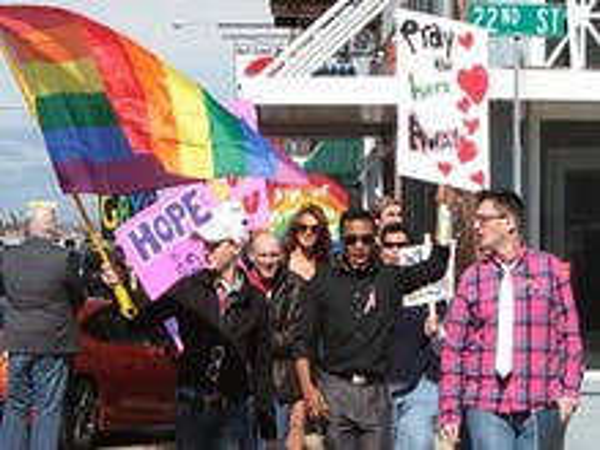 LGBT community protests U.S. congressman's anti-gay Facebook post