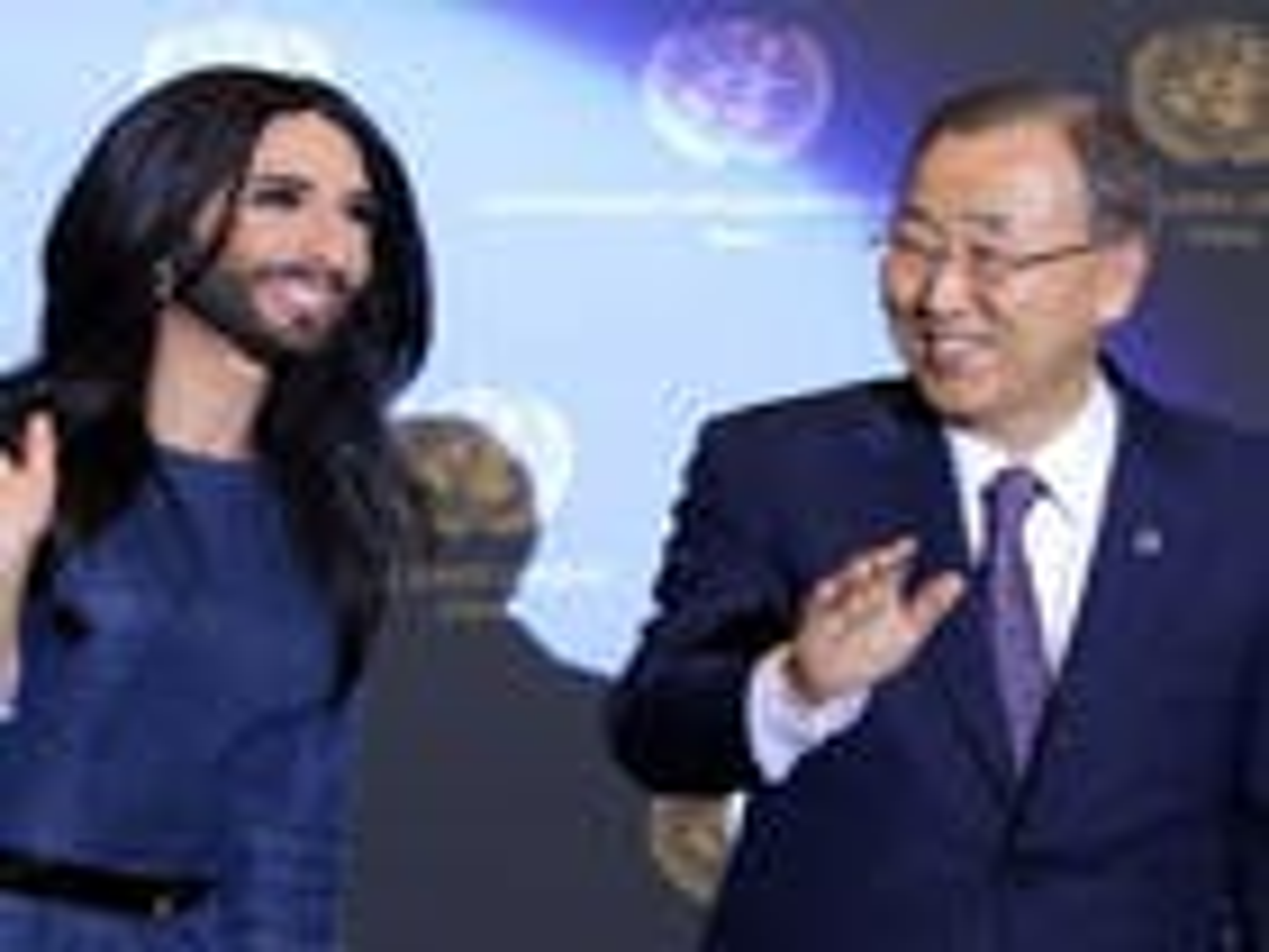 UN secretary general, Austria's Conchita Wurst call for end to LGBT bias